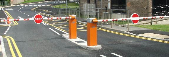 Automatic barriers car park traffic